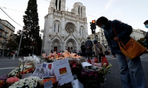 Tributes left outside Notre-Dame church in Nice