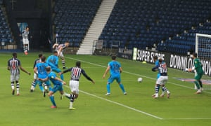 Dara O'Shea of West Bromwich Albion scores a goal to make it 2-0.