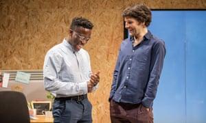 Desperation and ambition … Bayo Gbadamosi and Colin Morgan in Gloria.