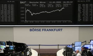 The German share price index DAXhit a record high on Tuesday.