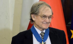 Sir Roger Penrose wins the Nobel prize in physics. Pictured during a ceremony at the presidential palace in Warsaw, Poland, 12 December 2016
