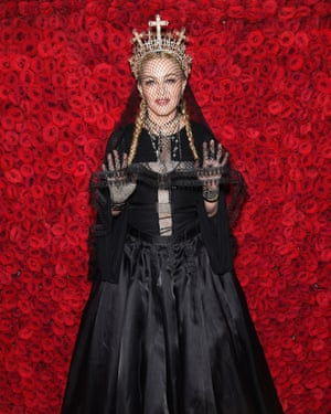 2018: Madonna attends the Heavenly Bodies: Fashion & The Catholic Imagination Costume Institute Gala at The Metropolitan Museum of Art