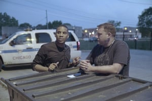 Reggie Yates out with Chicago's police force.