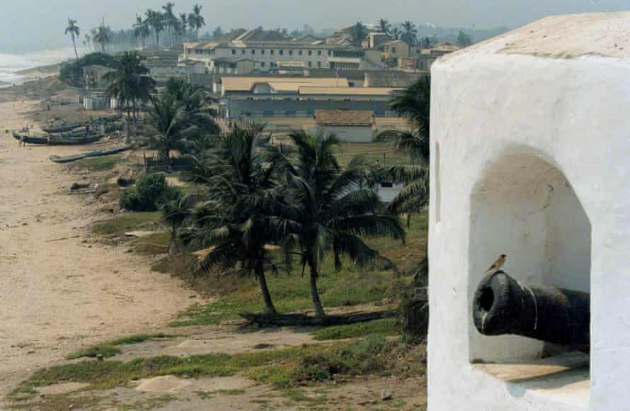 A fort in Elmina, Ghana, built by 15th-century European gold and slave traders.