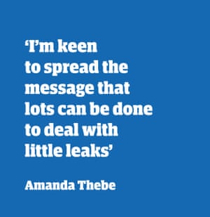 Quote from Amanda Thebe: 'I'm keen to spread the message that lots can be done to deal with little leaks'