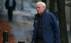 Ivor Bell arrives at Belfast crown court