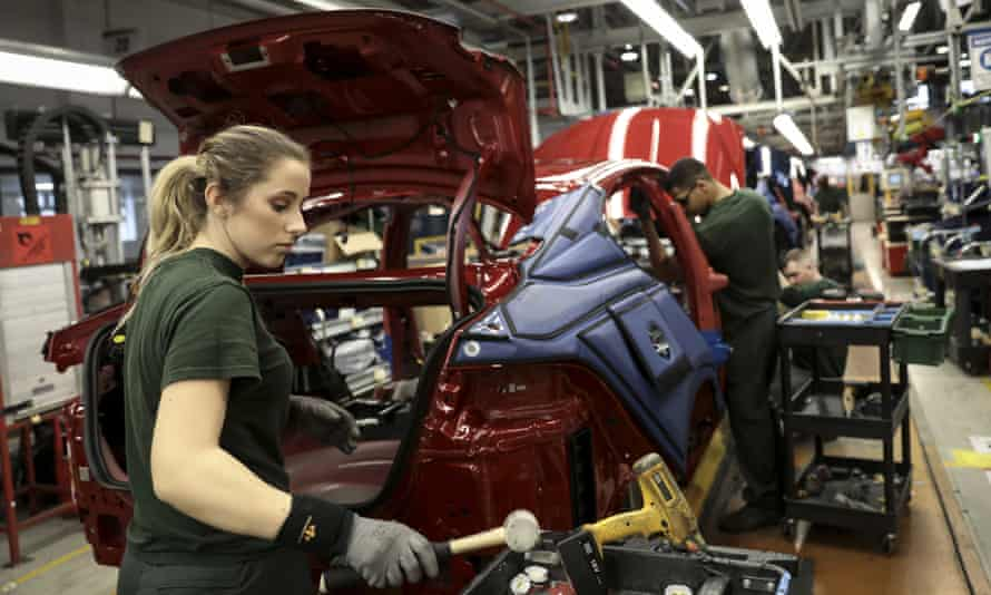 Jaguar Land Rover factory in Solihull. The firm is Britain's largest vehicle manufacturer.