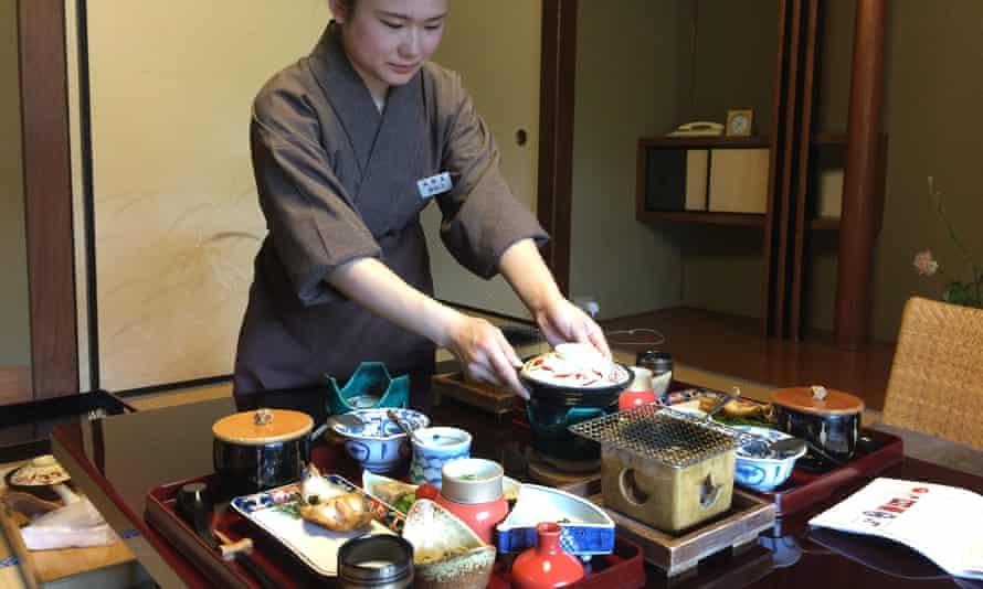 A kaiseki meal, at Nishimuraya onsen, Kinosaki.