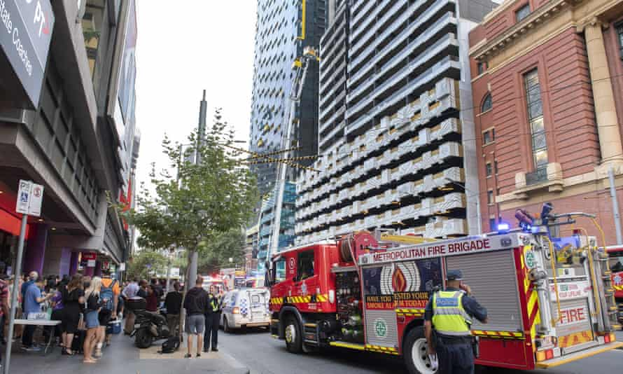 Spencer Street fire in Melbourne that has sparked new concerns about combustible cladding on apartment buildings