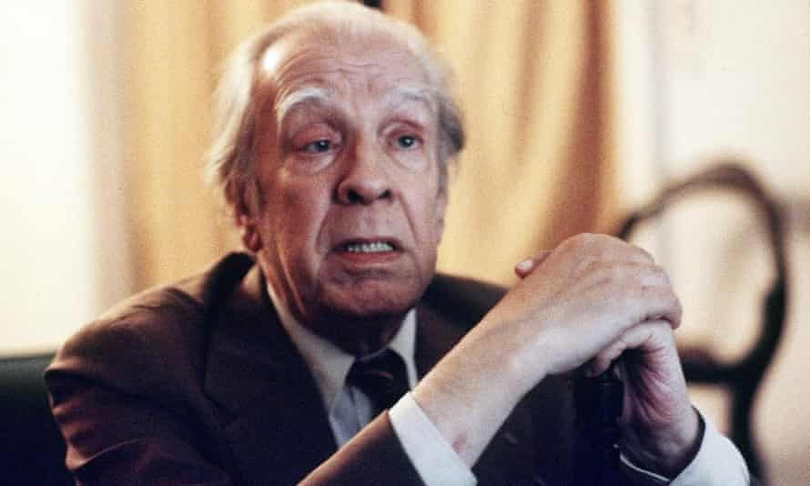 Jorge Luis Borges at home in Buenos Aires in 1981.