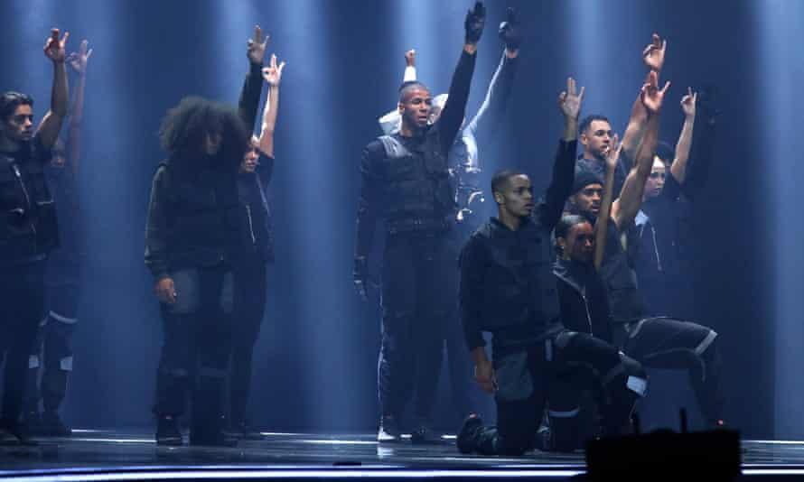 Members of Diversity perform during the ITV show's semi-final earlier this month