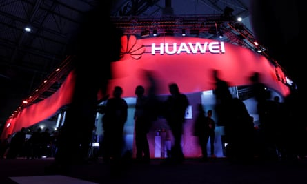 Huawei's stand at the Mobile World Congress in Barcelona last year.