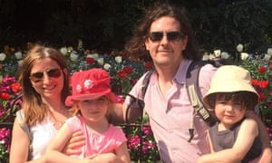 Elisa Vertue and husband James Wilson with their children Maia and Rudy.