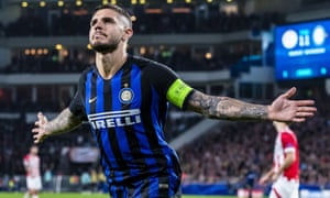 Inter's Mauro Icardi scored a decisive goal at PSV, just as he did in the last round at home to Tottenham.