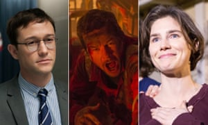 Joseph Gordon-Levitt in Snowden, Mark Wahlberg in Deepwater Horizon and Amanda Knox.