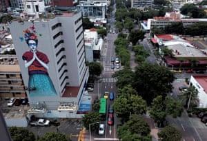 A mural on a building in Guadalajara, Mexico