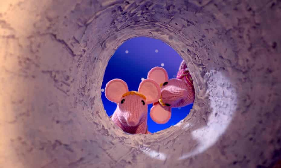 The Clangers come on at the end of the CBeebies day, narrated by the steady, lulling voice of Michael Palin.