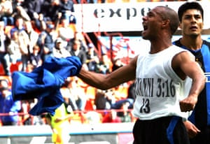 Zé Maria celebrates after scoring for Inter in 2005.