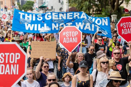 A youth climate rally held in Brisbane on December 8, 2018.