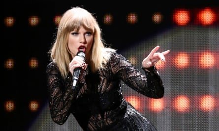 Taylor Swift performing in February 2017.