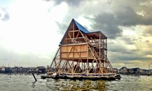 Kunlé Adeyemi's floating school on a Lagos lagoon.