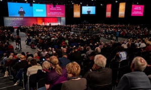 The opening session at Labour conference.