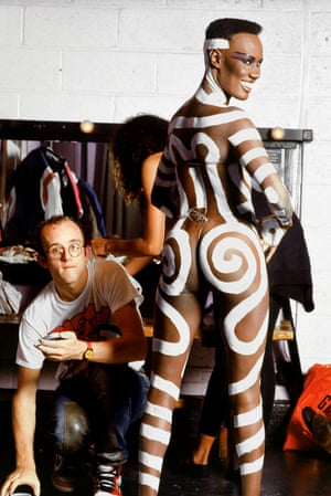 Grace Jones and Keith Haring