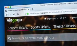 Viagogo website