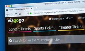 viagogo homepage