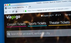 Ticket resale website Viagogo that has come under fire for a lack of transparency.