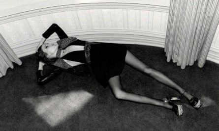 The Yves Saint Laurent ad banned by the advertising watchdog as 'irresponsible'. It originally appeared in Elle magazine.