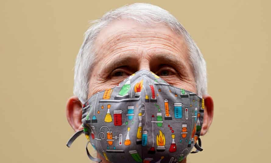 Dr Anthony Fauci, the US government's leading infectious disease expert, testifies before a House select subcommittee on the coronavirus crisis on Capitol Hill on 15 April 2021.
