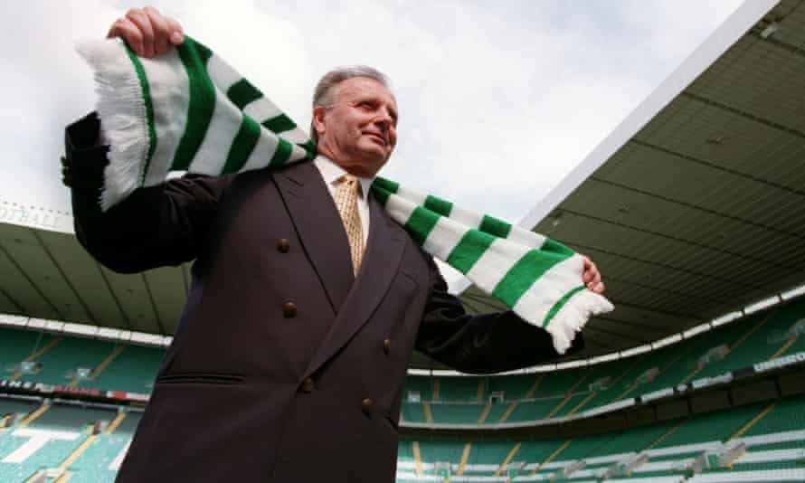 Dr Jozef Venglos, pictured being unveiled as Celtic's manager in 1998, has died at the age of 84.