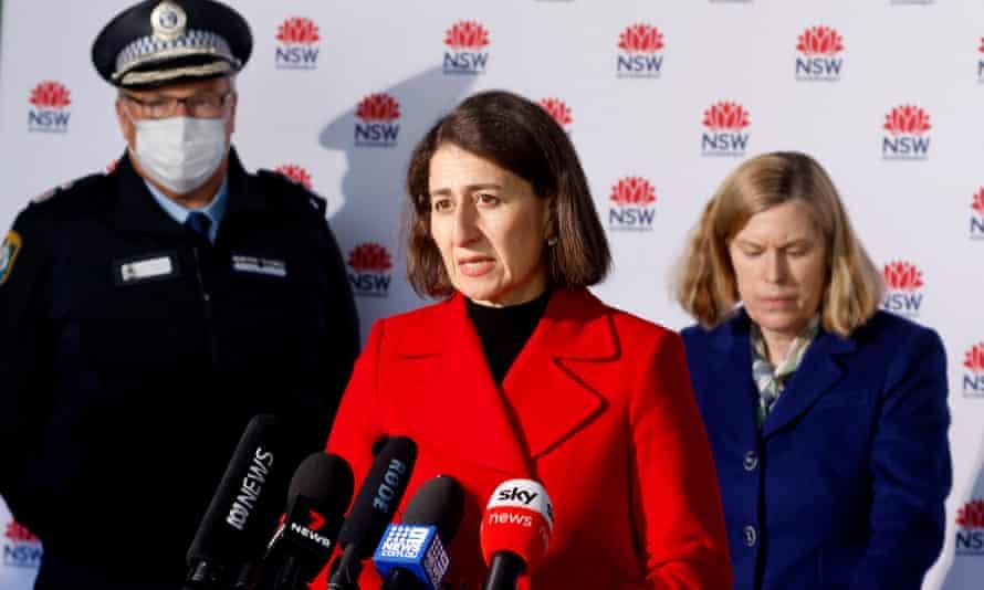 NSW premier Gladys Berejiklian speaks during a Covid update on Sunday.