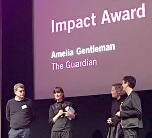 Amelia Gentleman at the Amnesty International media awards