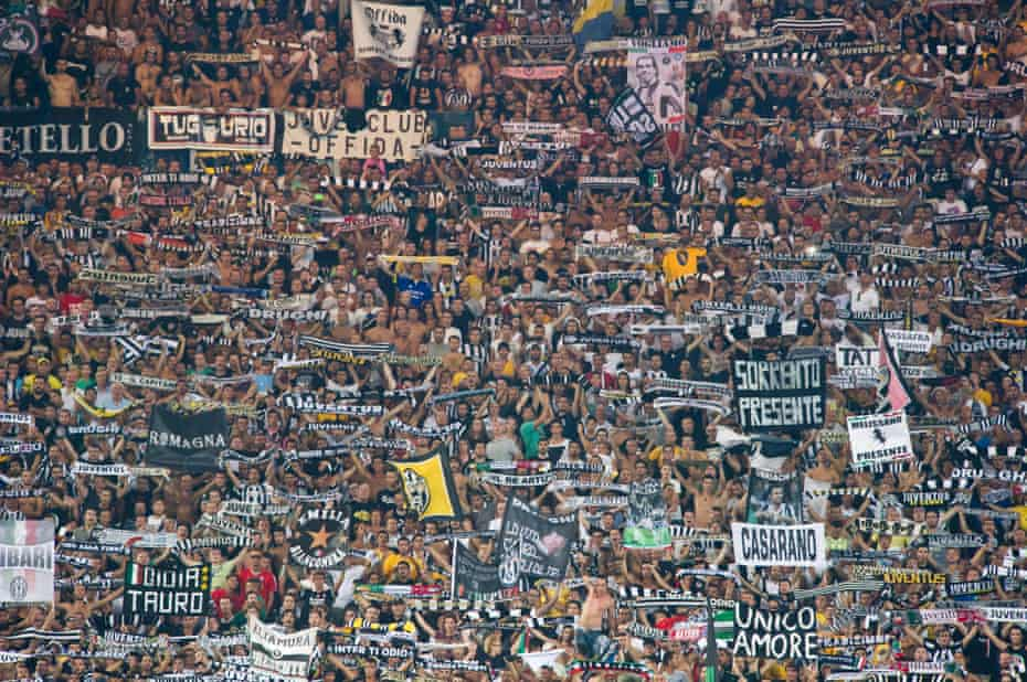 Juventus fans at the 2013 Supercoppa final against Lazio.