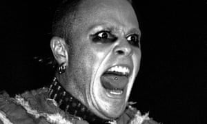 Keith Flint on stage in Glasgow in 1999.