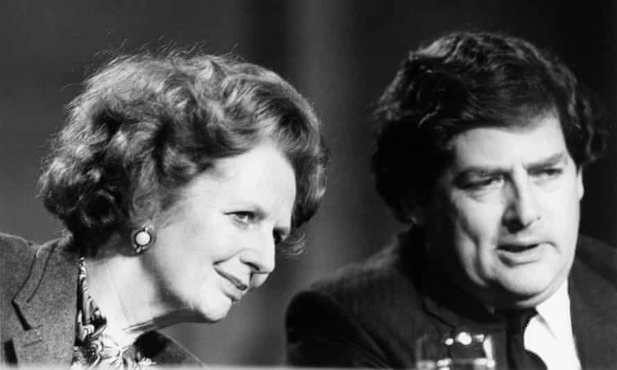 Lawson with Margaret Thatcher in the 1980s.