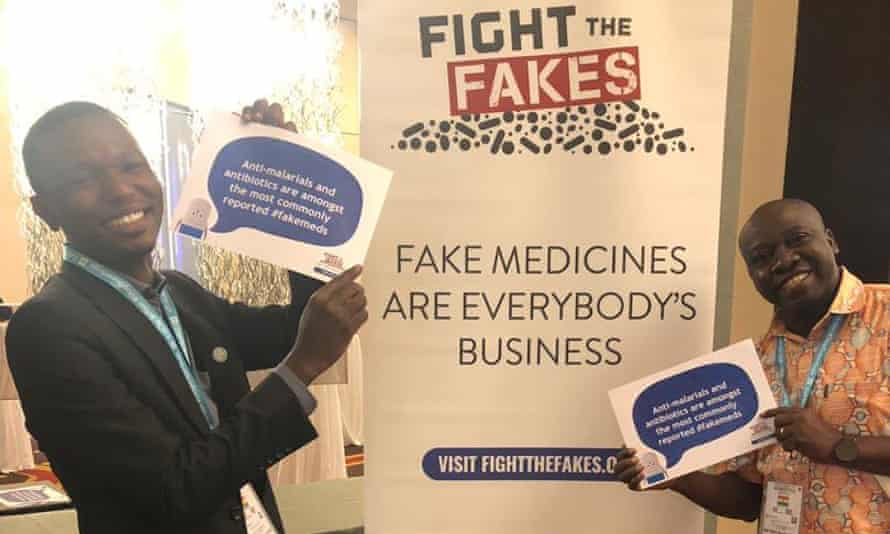 Fight the Fakes activists at a Wellcome Trust-sponsored launch in Accra, Ghana