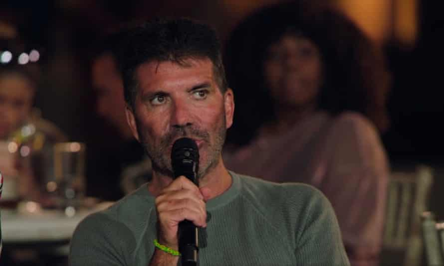 For whatever reason he has now come to resemble a Monkey Christ fresco version of himself ... Simon Cowell.