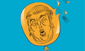 Balloon animal... Donald Trump's US election campaign has proved hugely divisive.