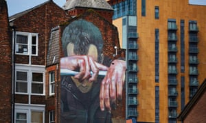A mural promoting awareness of mental health issues, Manchester, May 2016