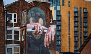 A mural in Manchester by German artist CASE highlighting mental health issues
