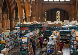 The South London warehouse is a distribution centre at St Margaret's Church, which is operating a delivery service to those in need across south London.