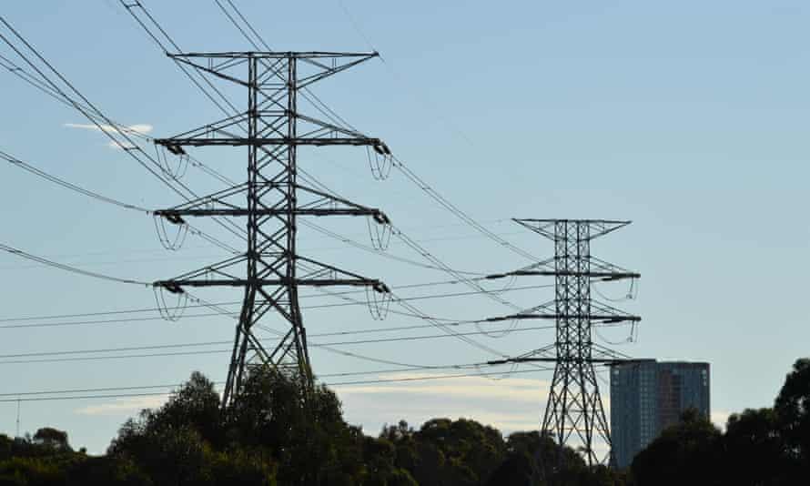 High voltage transmission lines in Sydney
