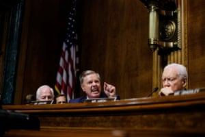 Senator Lindsey Graham questions Kavanaugh in front of the Senate Judiciary committee
