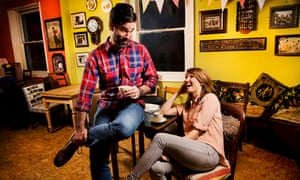 Sharon Horgan and Rob Delaney laughing together