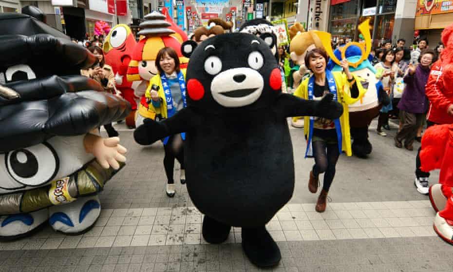 Kumamon celebrates his birthday on March 12, 2014 in Kumamoto, Japan.