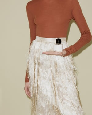 Unnamed perfume, £135, by Byredo Roll neck by Isabel Marant Etoile from . Skirt by Erdem