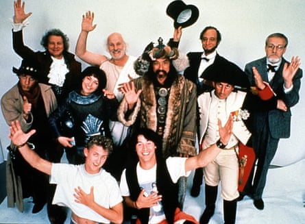 The cast of Bill & Ted's Excellent Adventure.